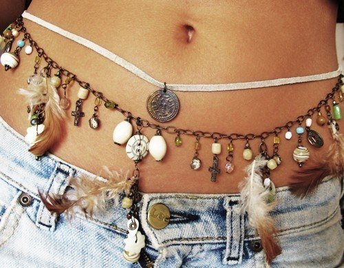 belly, button, cross, denim