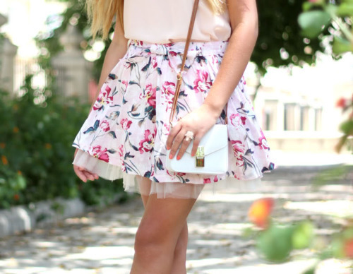 belt, blonde, delicated, fashion, flawless, floral, girl, lovely, pastel, vintage