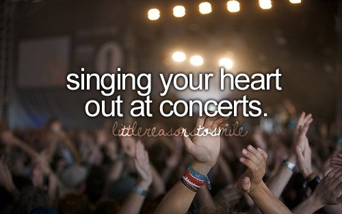best feeling in the world, concerts, singing