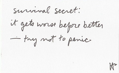 better, panic, quote, secret