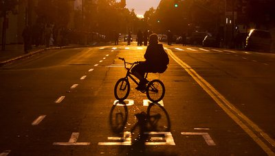 bike, city, girl, photography, sun