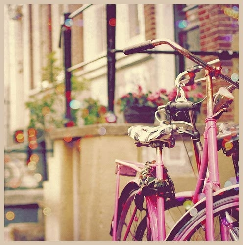 bike, photography, pink, vintage