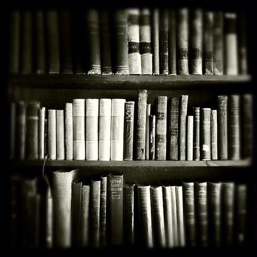 black and white, books, life, love