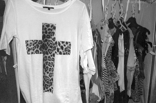 black and white, clothes, cross, fashion