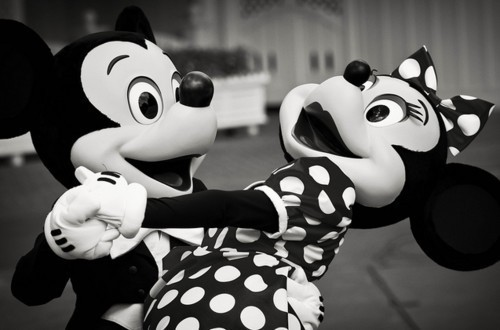 black and white, couples, cute, disney