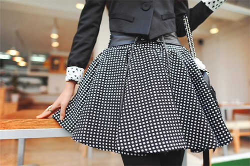 black and white, cute, fashion, girl, skirt, style