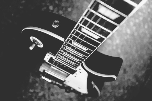 black and white, electric, guitar, les paul