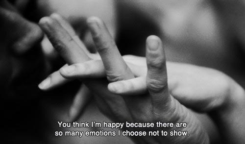 black and white, emotions, hands, happy, not to show, quote, show, text, whisper