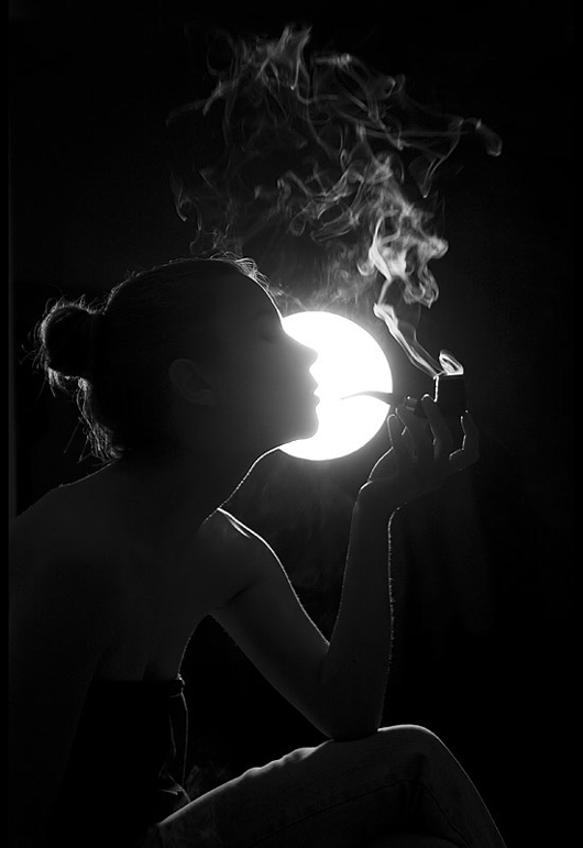 black and white, girl, girls, hume, love, night, photography, sexy, smoke, smoking, woman, women