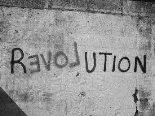 black and white, revolution, wall