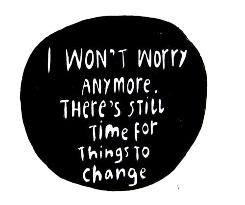 black, black and white, change, letters, quote, quotes, text, white, worry