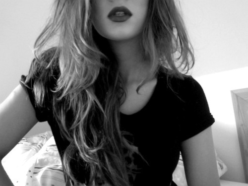 black, black hair, fashion, girl, hair, lipstick, makeup, rock, rock fashion, rock style, scene hair, style