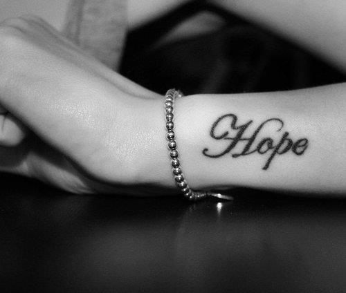 black, bracelet, hand, hope, tattoo, white