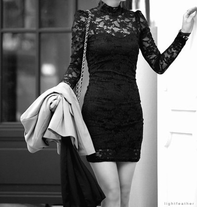 black, clothes, dress, outfit