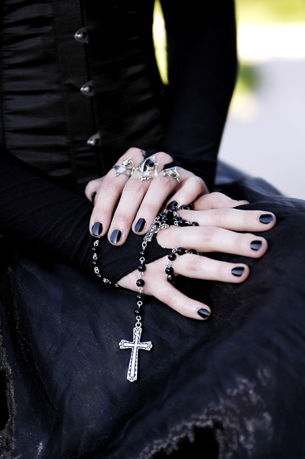 black, cross, goth, gothic, rosary, victorian, victorian gothic