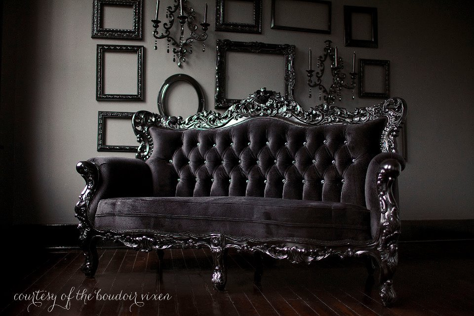 black, decor, goth, gothic
