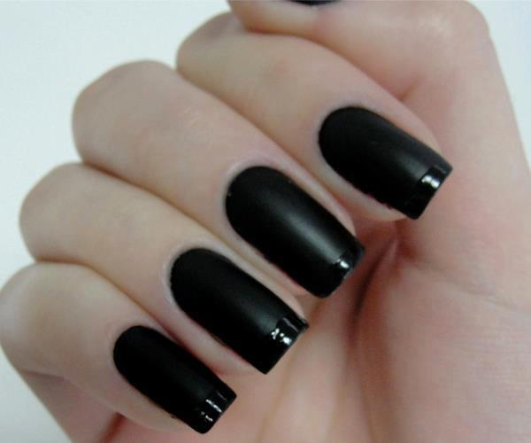 black, nail, nails, pretty