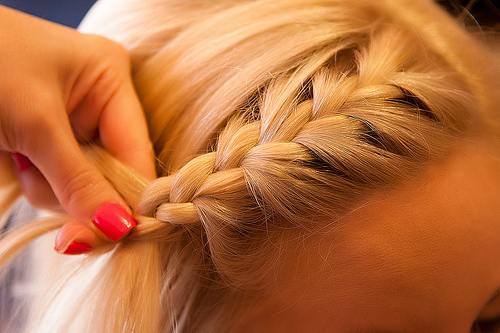blond, braid, fashion, hair