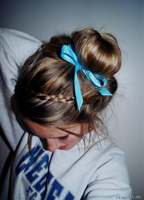 blonde, bow, fashion, girl