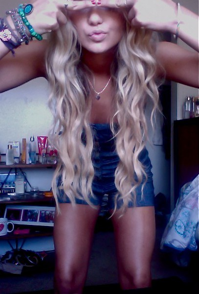 blonde, curly, girl, hair
