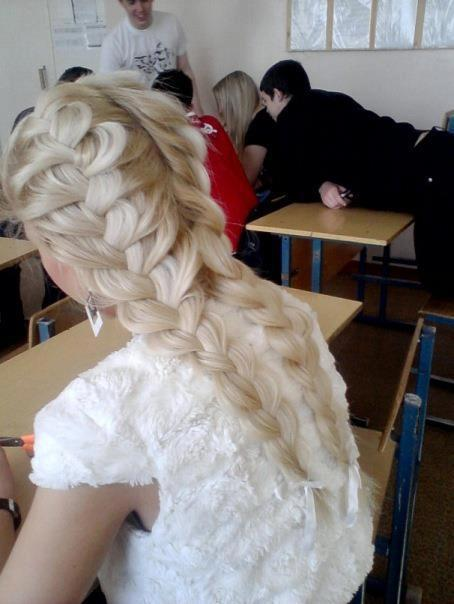 blonde, cute, girl, hair, school