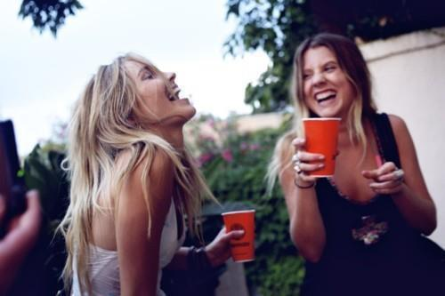 blonde, drink, girls