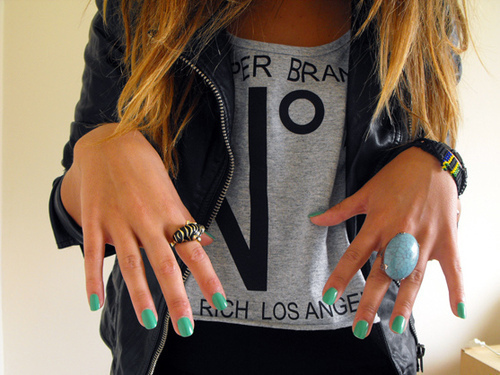 blonde, fashion, nails, style