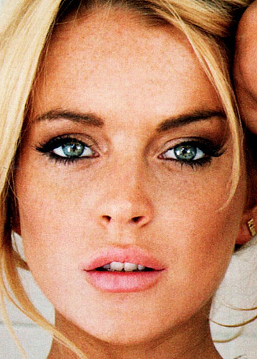 blonde, gorgeous, green eyes, hipster, indie, lindsay lohan, lips, mouth, pretty, teeth, young
