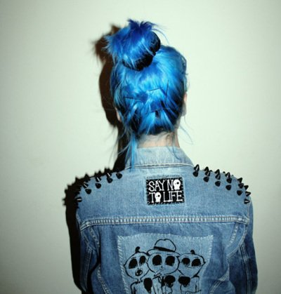 blue, blue hair, girl, hair, rock