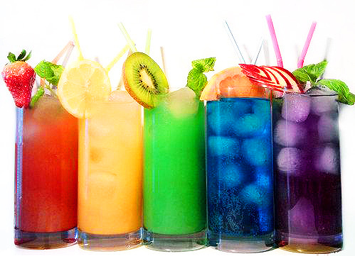 blue, blueberry, colors, drinks, grape, green, juices, kiwi, lemon, orange, purple, red, strawberry, summer, yellow