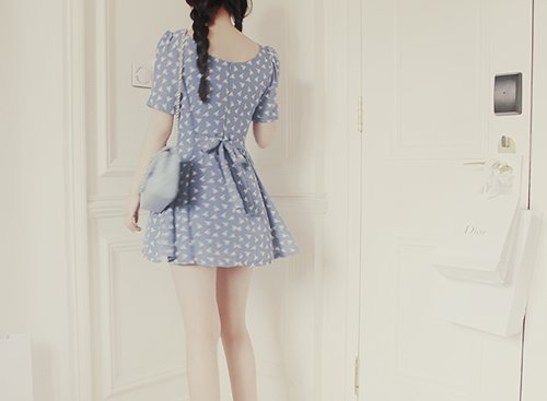 blue, cute, dress, fashion, girl, kfashion, korean, korean fashion, photography, stylish, ulzzang
