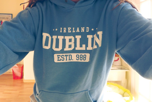 blue, dublin, girl, hoodie