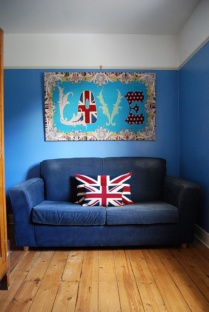blue, england, love, sofa