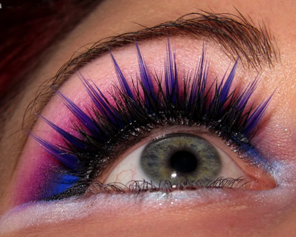 blue, eyelashes, eyeshadow, fake eyelashes, fashion, feathers, lashes, makeup, pink