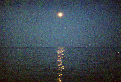 blue, indie, moon, sea