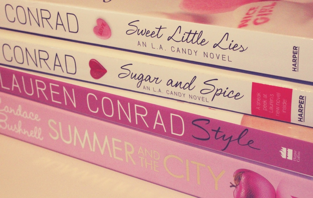 books, heart, lauren conrad, pink