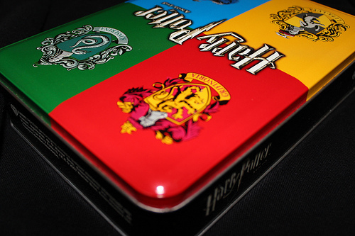 box, gryffindor, harry, harry potter, hufflepuff, potter, ravenclaw, slytherin