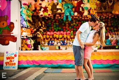 boy, carnival, circus, colorful, couple, cute, fun, girl, kiss, love, young