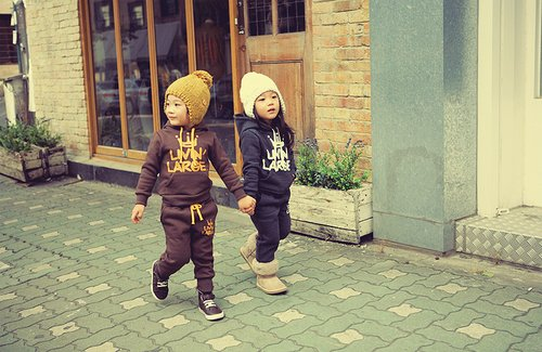 boy, children, couple, cute