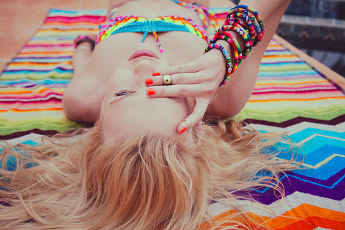 bracletes, colour, fashion, girl, pink, summer, JEWERLY