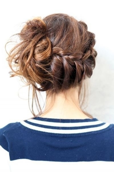 braid, brunette, brunette braid, bun, girl, hair, hairstyle, pretty