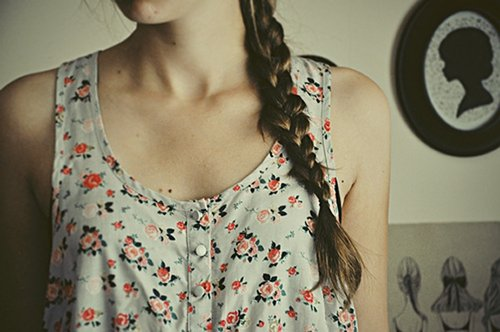 braid, clothes, estampa, floral
