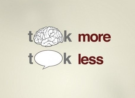 brain, less, more, photo, speak, talk, text, think, thinking, thought, wisdom