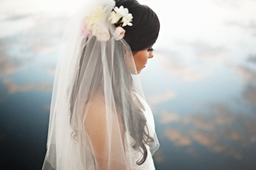 Bridal Flowers In Hair With Veil : Bride flowers gorgeous lovely image on favim