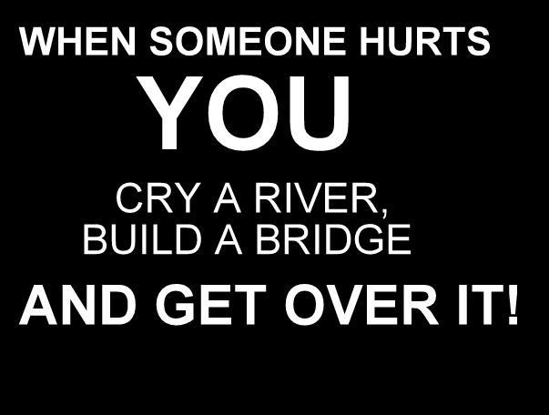 bridge, bw, get over it, hurt