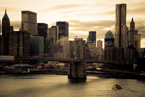 bridge, city, new york, ny