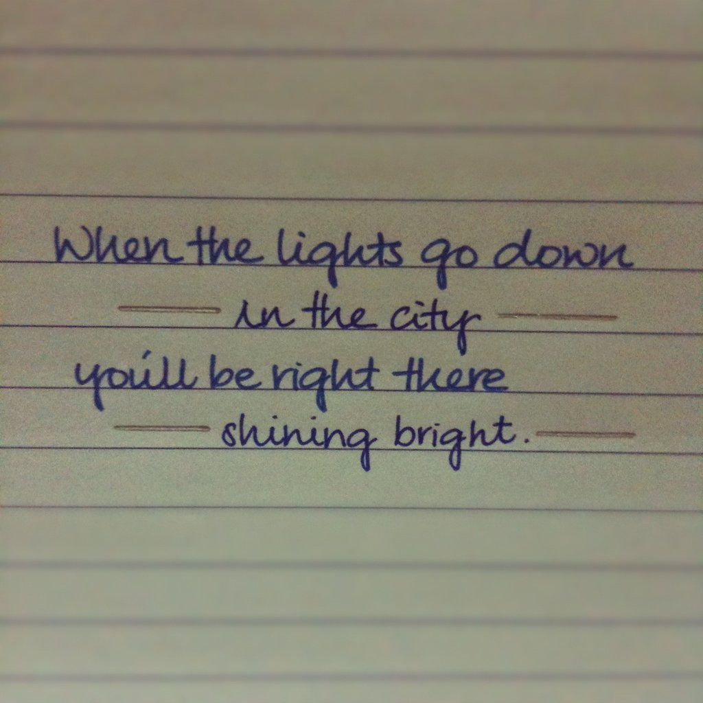 bright, lights, quote, saying