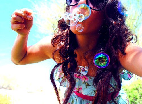 bubbles, cute, fashion, girl, hair, love, summer