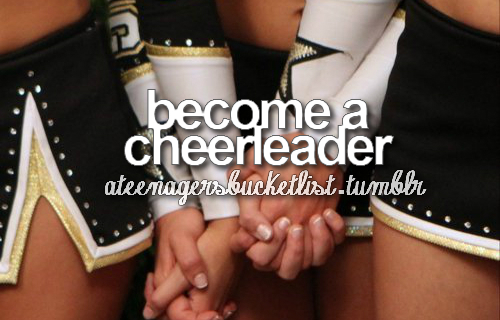 bucket, bucket list, cheerleader, cute