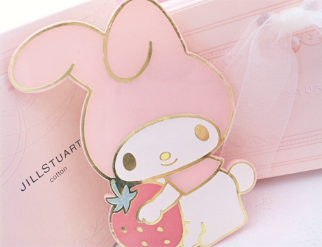 bunny, card, pink, strawberry